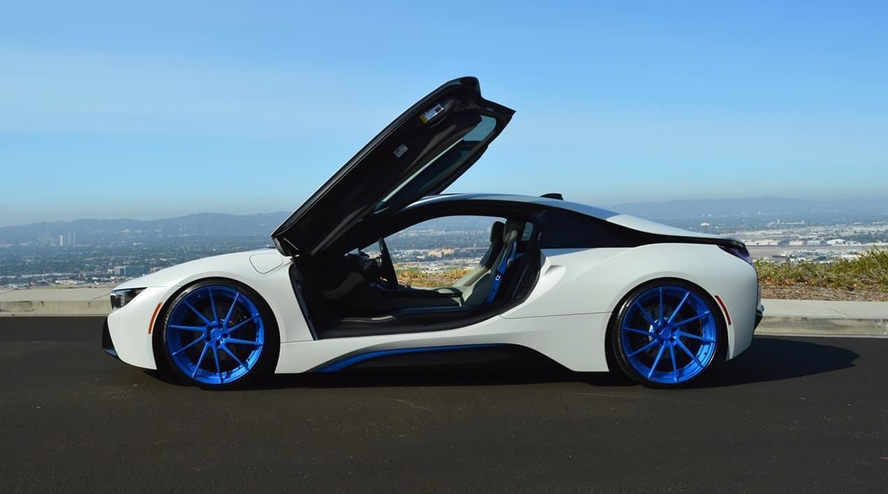 Bmw I8 White Blue Exotic Cars Uniq Los Angeles