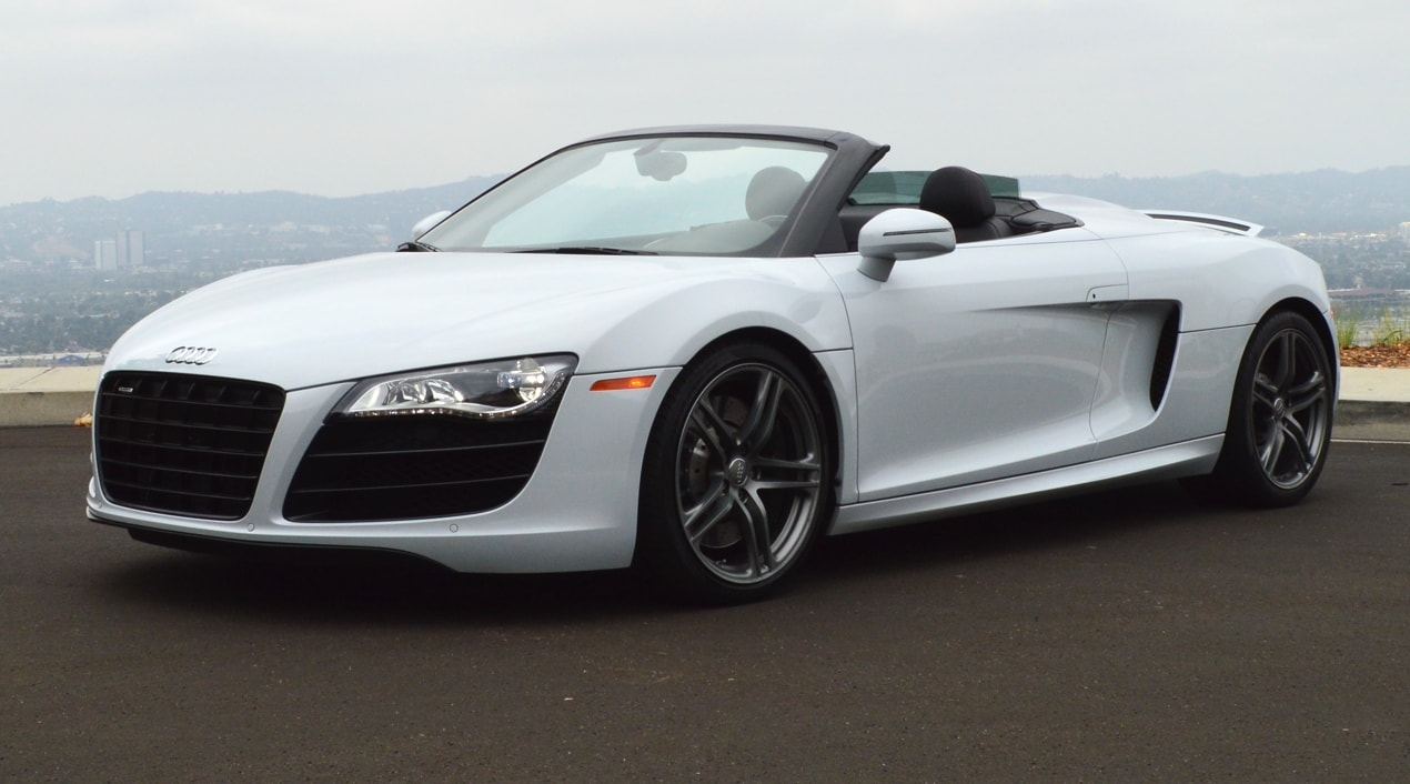 Audi R8 White Convertible Exotic Cars Uniq Los Angeles