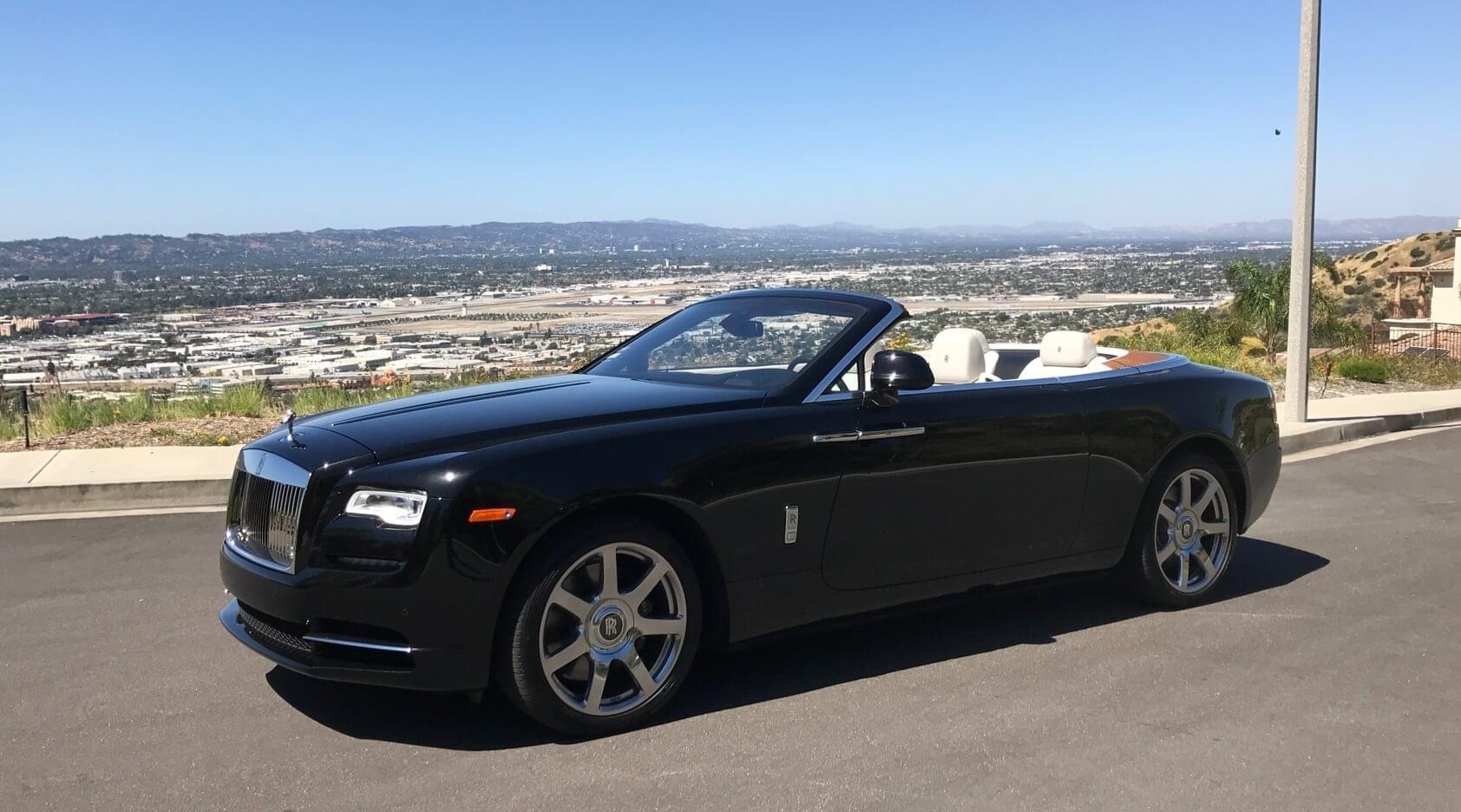 Rolls Royce Dawn Black 2 Door Convertible Exotic Cars