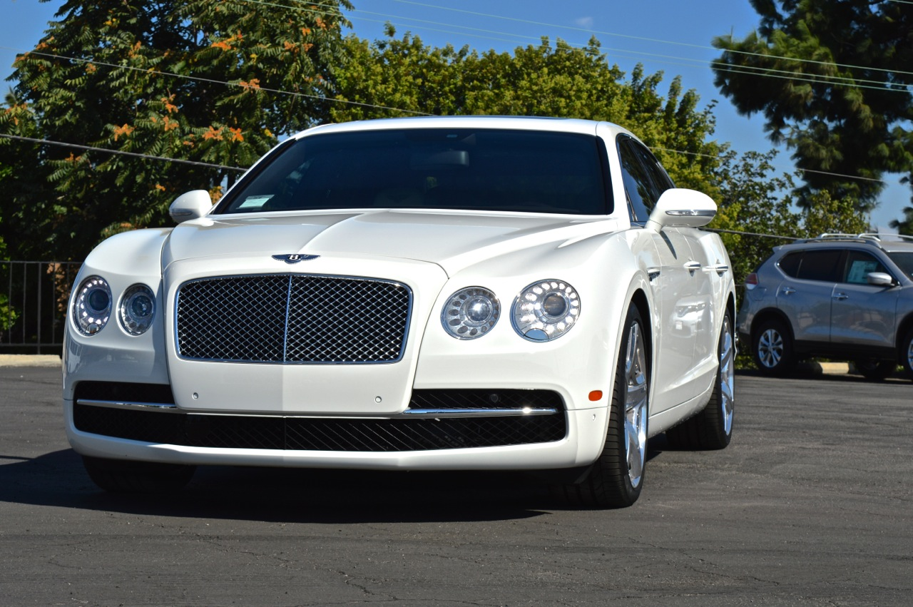 Pearl white bentley