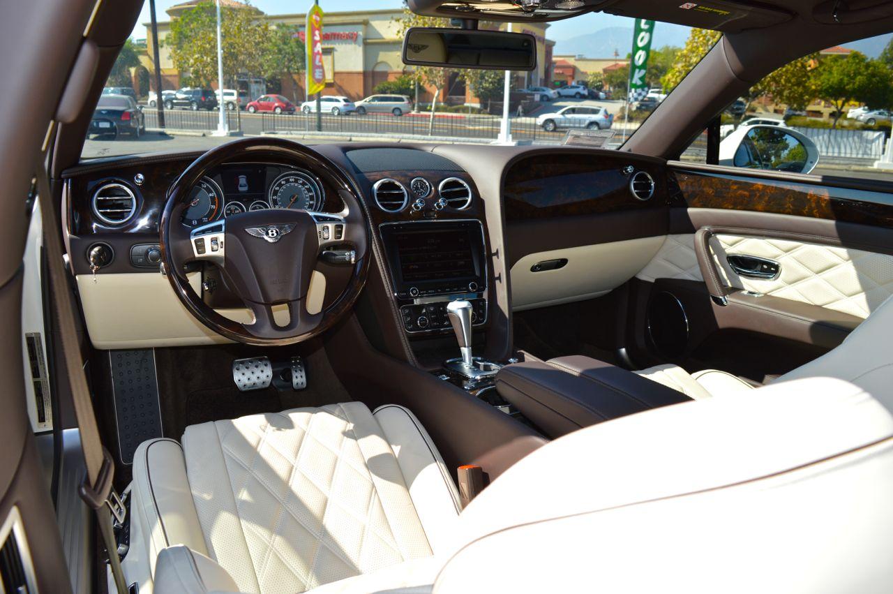 Bentley Flying Spur Pearl White Exotic Cars Uniq Los