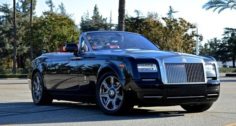 Rolls Royce 2-Door Convertible Black & Red