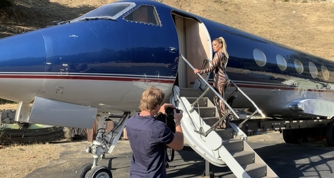 Private Jet available for Photo/Video Shoots