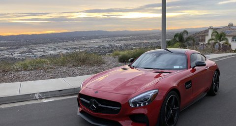 Mercedes AMG GT Red