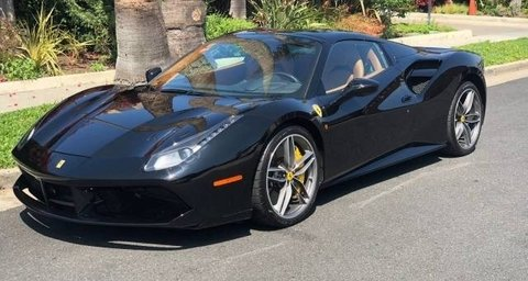 Ferrari 488 Spider black Convertible
